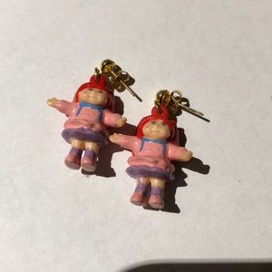 Vintage cabbage patch doll earrings